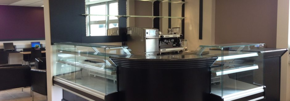 coffee bar and counter displays