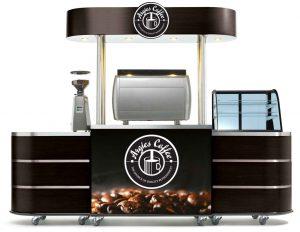 Bali bar counter and display cabinets