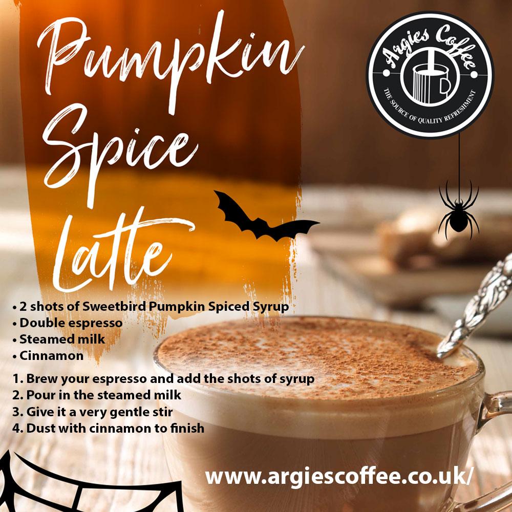 Pumpkin spiced latte recipe - Argies Coffee